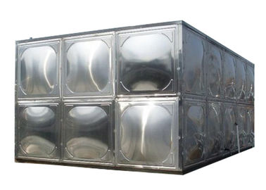 304 Stainless Steel Water Storage Tanks With Stainless Steel Mounting Panel