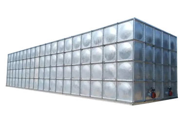 Galvanized Steel Water Storage Tanks , Rust Proof Screw Mounting Fire Water Tank